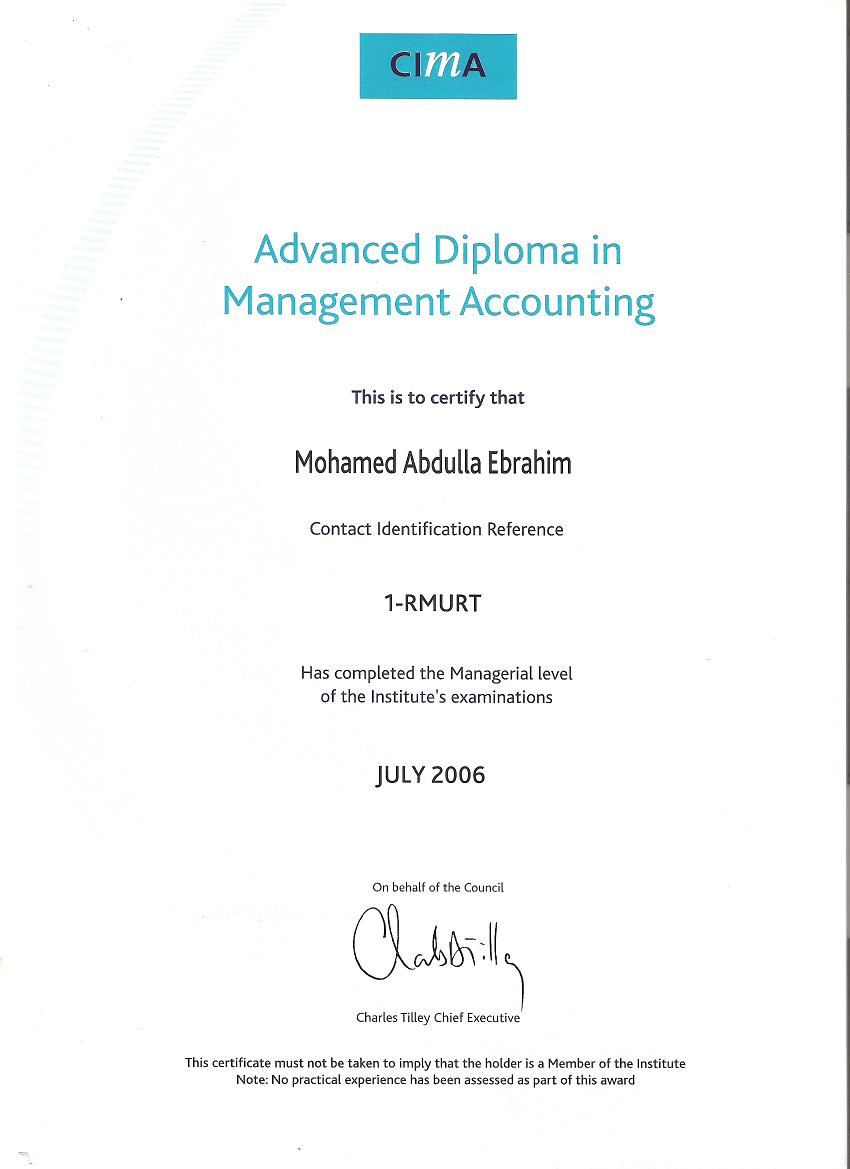 Know cpa mohamed ebrahim through his achievements pictures cpa advanced diploma in management accounting mohamed ebrahim xflitez Images